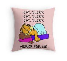 Garfield Eat Sleep Throw Pillow