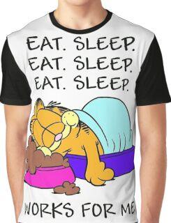 Garfield Eat Sleep Graphic T-Shirt