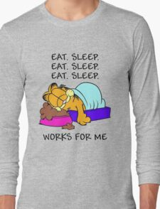 Garfield Eat Sleep Long Sleeve T-Shirt