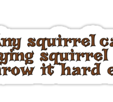 Any squirrel can be a flying squirrel if you throw it hard enough Sticker