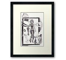 Cyborg in Theatre Framed Print