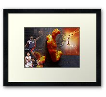 Cheeto Lebron Framed Print