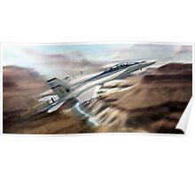 U.S. Navy F18 Hornet. Poster
