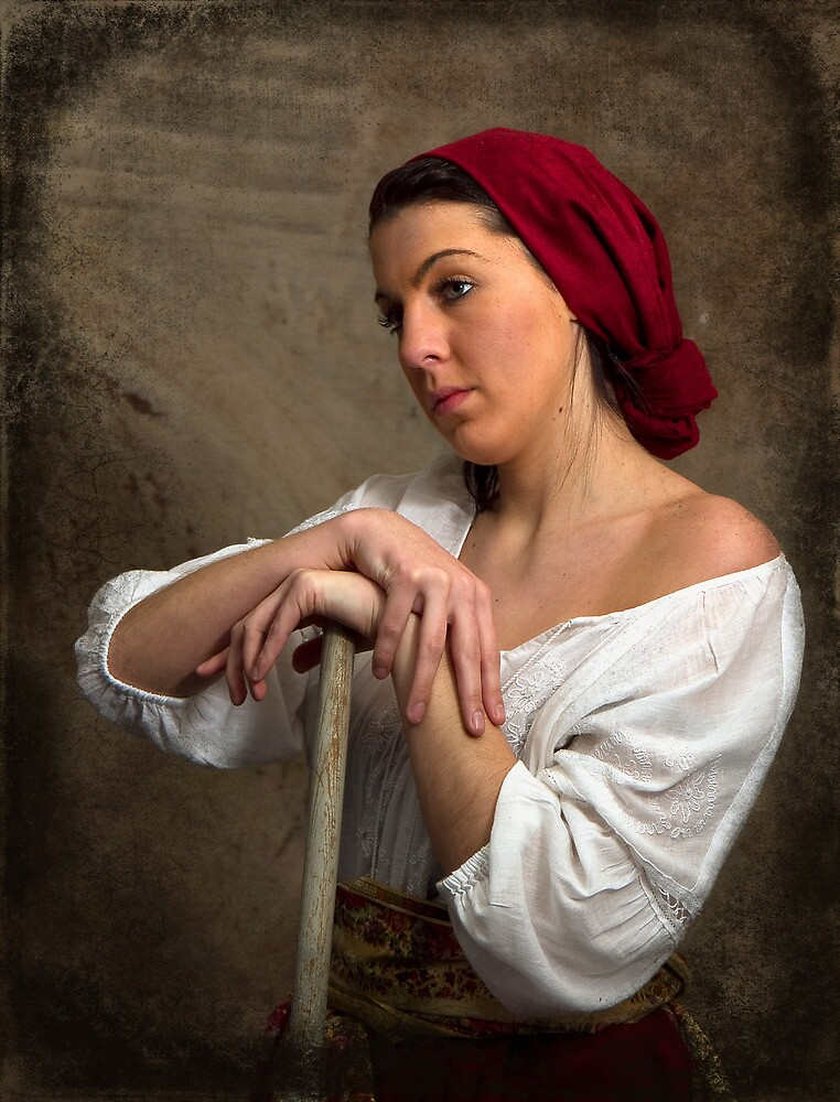 Working Peasant Girl by Trudy Wilkerson