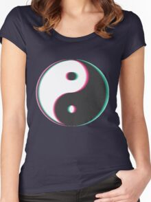Trippy Yin Yang Women's Fitted Scoop T-Shirt