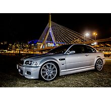 E46 Silver BMW M3 Photographic Print