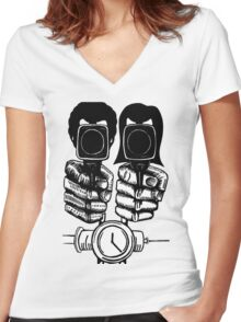 Pulp Fiction - Jules and Vincent Women's Fitted V-Neck T-Shirt