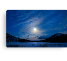 Moonlight Over Tahoe Meadows Canvas Print