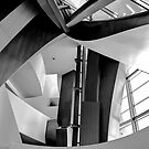 Disney Music Hall abstract black and white by photosbyflood