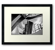 Disney Music Hall abstract black and white Framed Print