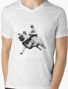 Star Pugs Mens V-Neck T-Shirt