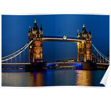 Tower Bridge during the blue hour, London Poster