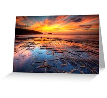 The Tessellated Pavement Greeting Card