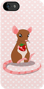 Strawberry Rat by tanzelt
