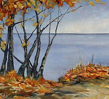 Sliced with a Tear a large Canadian Landscape painting by TerrillWelch