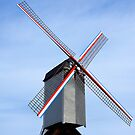 Traditional old windmill in Belgium by kirilart