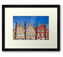 Traditional old Belgium House Facades in Bruges Framed Print