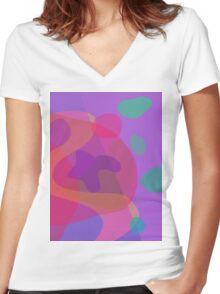Purple Room Women's Fitted V-Neck T-Shirt