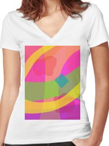Fruit and light Women's Fitted V-Neck T-Shirt