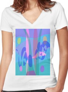 Swimming Women's Fitted V-Neck T-Shirt