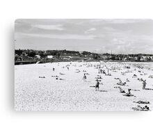 On the beach at Bondi on film Canvas Print
