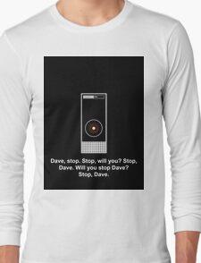 Hal 9000 Minimalist DAVE?! Long Sleeve T-Shirt