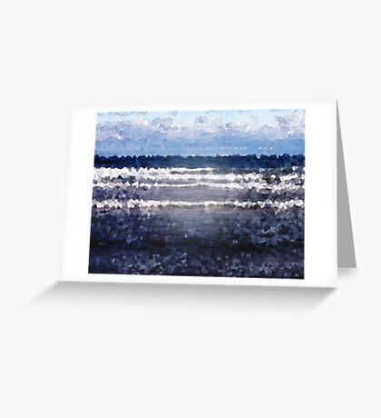 White Cap Waves Greeting Card