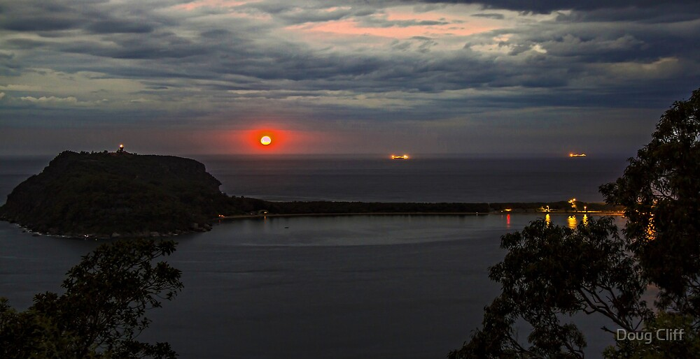 Palm Beach Moonrise by Doug Cliff