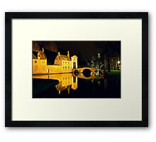 The Bridge And The Convent Entrance In Bruges Framed Print