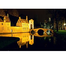 The Bridge And The Convent Entrance In Bruges Photographic Print