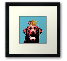 Dog with a crown. Framed Print