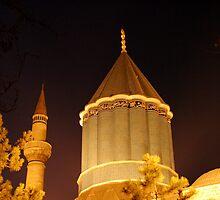 Mausoleum of Mevlana Celaleddin Rumi in Konya by Jens Helmstedt