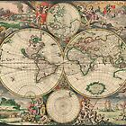 World Map 1671 by VintageLevel