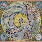 Map of the North Pole 1595 by VintageLevel