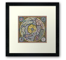 Map of the North Pole 1595 Framed Print
