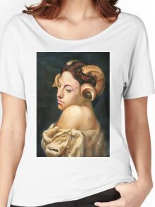 the Bacchante after Jean Leon Gerome Women's Relaxed Fit T-Shirt