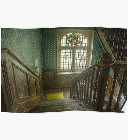 Stairs of the Villa Albanaise Poster