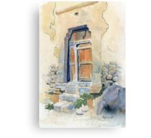Old Door in Cuzco, Peru Canvas Print