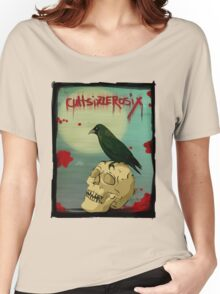 Crow, Skull, Blood Women's Relaxed Fit T-Shirt