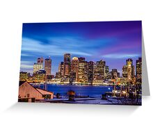 Boston colors Greeting Card