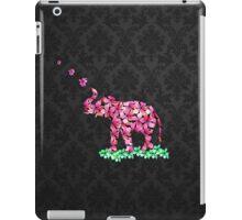 Retro Flower Elephant Pink Sakura Black Damask iPad Case/Skin