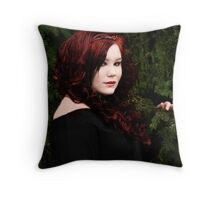 Fire in the Woods Throw Pillow