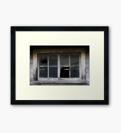 weathered window~ Framed Print
