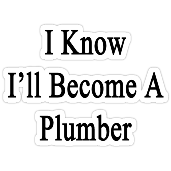 I Know I'll Become A Plumber by supernova23