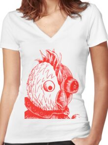 Robot Chicken Women's Fitted V-Neck T-Shirt