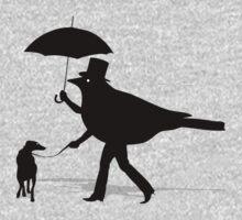 Bird Walking a Dog One Piece - Long Sleeve
