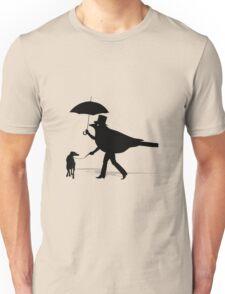 Bird Walking a Dog T-Shirt