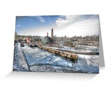 Barges on Ice Greeting Card
