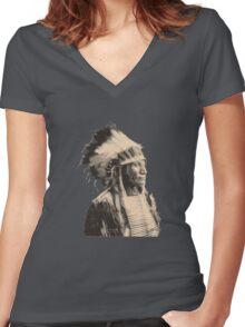 Broken Arm Ogalalla V2 Women's Fitted V-Neck T-Shirt