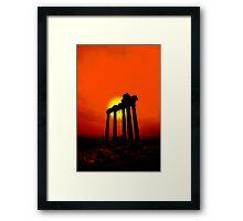 Greek Sunset Framed Print